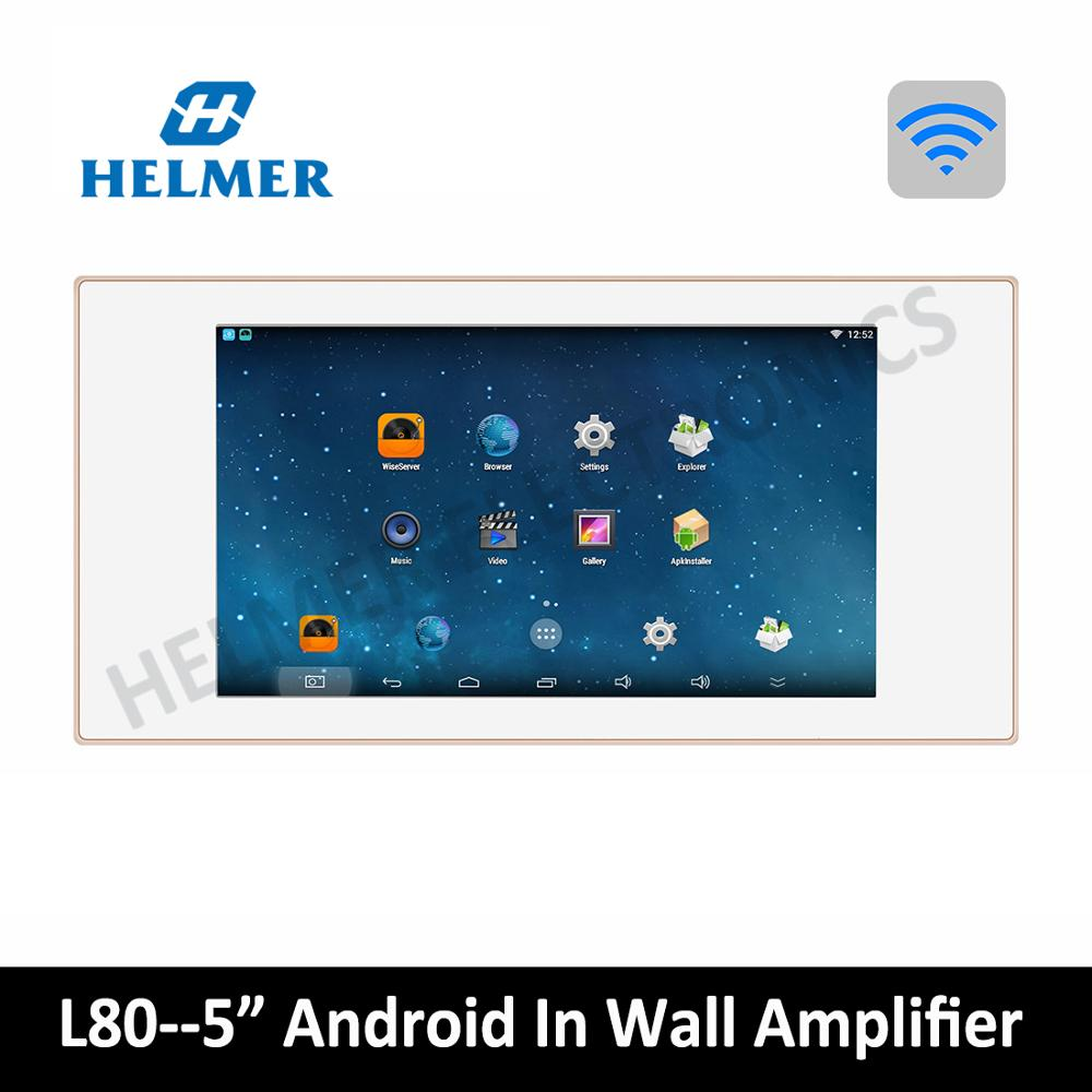 """5"""" home audio video System,In wall integrated amplifier,android system,WIFI digital stereo amplifier,home theatre, music player"""