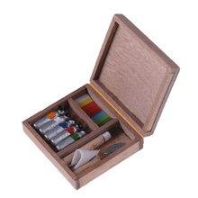 1:12 miniaturowe akcesoria do domku dla lalek akcesoria pudełko na farby domek dla lalek Mini pudełko do malowania Pigment Sticks lalki do własnoręcznego wykonania dom części zabawki