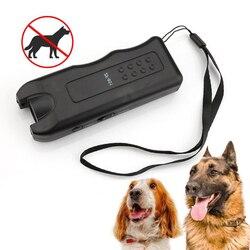 Draagbare Ultrasone Hond Chaser Stopt Dier Aanvallen Hond Repeller Ultrasone Drive Training Guide Zelfverdediging Levert