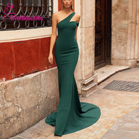 Vestido Longo Long Evening Dress 2020 Satin Formal Dress Robe De Soiree Green Dress Vestido Sereia Ballkleid платье вечернее