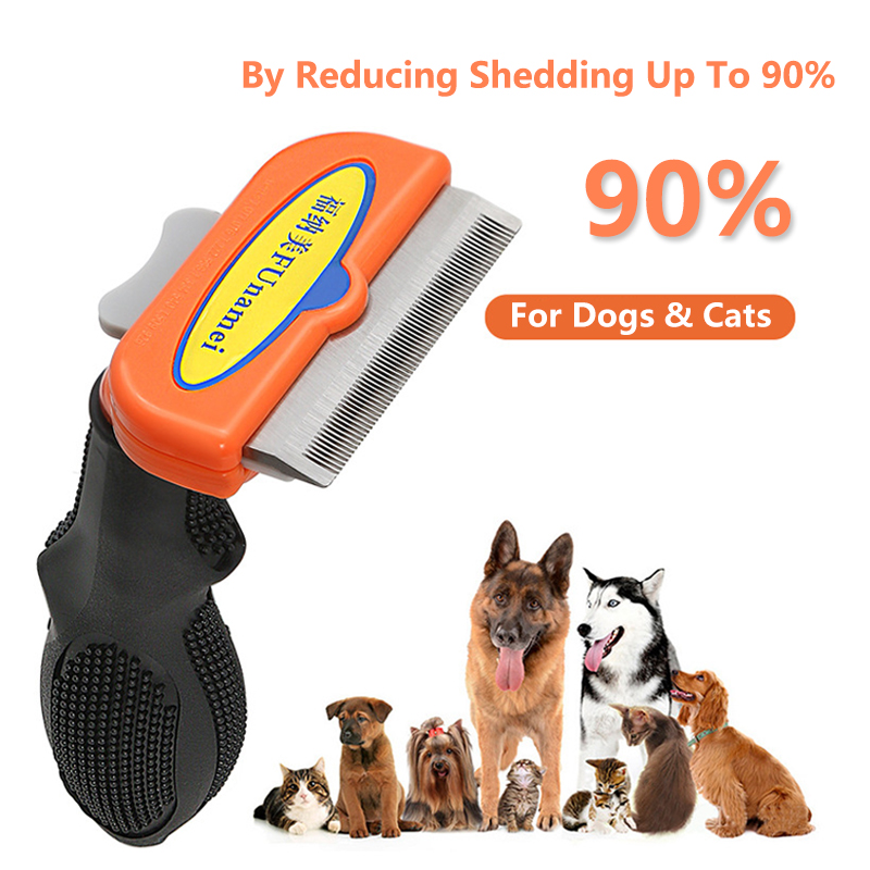 Pet Dog Hair Removal Combs Pet Grooming Brush Dogs Cats Hair Shedding Massage Combs Dog Hair Remover Cleaning Grooming Pet Brush