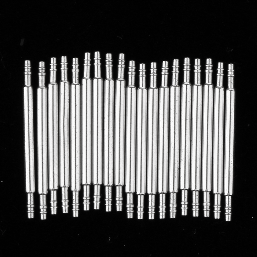 20Pcs Stainless Steel Spring Bars For Attaching Watch Band Buckle 1.3mm