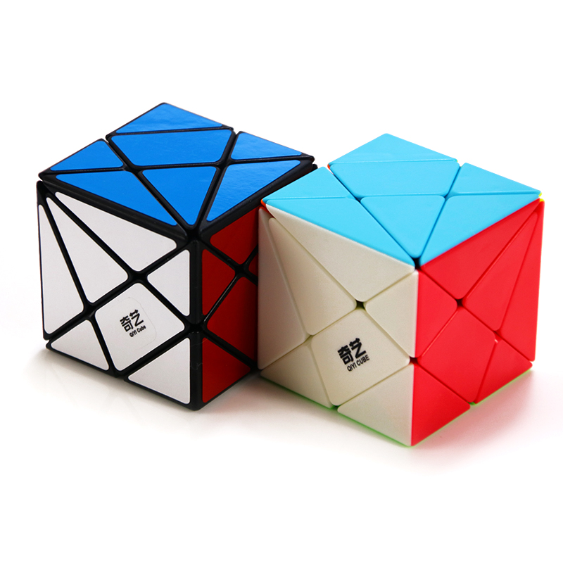 QIYI Axis Magic Cube Change Irregularly Jinggang Professional Puzzle Speed Cube With Frosted Sticker 3x3x3 Stickerless Body Cube