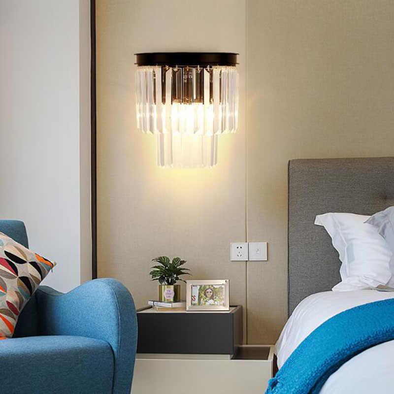Kristal Modern Sconce Dinding Atas dan Ke Bawah Lampu Dinding Vintage Loft Style Lampu Dinding Samping Tempat Tidur Rumah Aksesoris Kamar Tidur Tangga Action Electronics