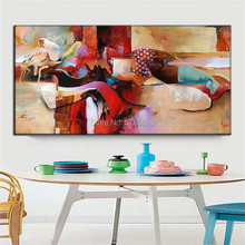 hand painted Huge Modern Oil Painting Nude sleeping Women Picasso style canvas painting Cubism wall art picture for living room cubism