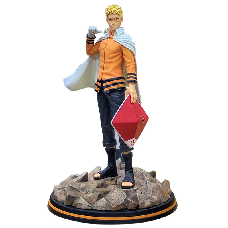 The Fire Nation Hokage Action Figure Naruto Uzumaki Naruto Anime Kurama Model Cartoon PVC Doll Japanese Figurine For Collection