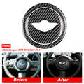 Carbon Faser Auto Lenkrad Aufkleber Abdeckung Trim für Mini Cooper Clubman R55 R56 Countryman R60 Paceman R61 Mini Aufkleber
