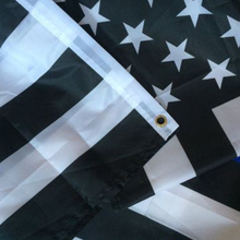 Practical Durable High Quality Double Sided Printed Polyester American Flag Grommets Fade Resistant Blue Black USA