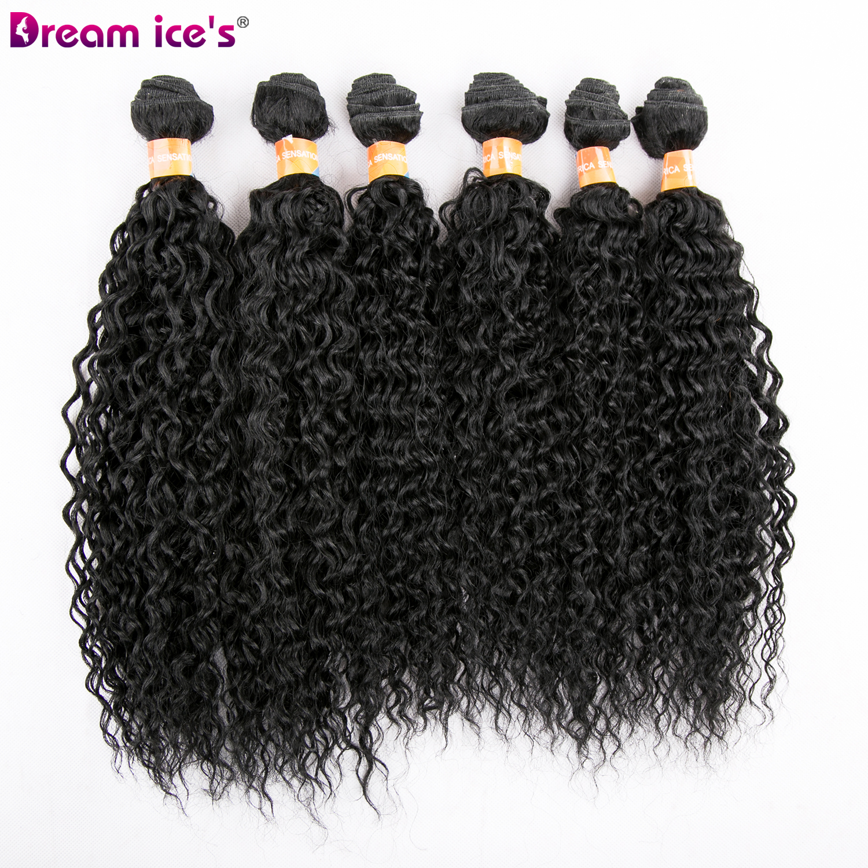 12 polegada longo cabelo encaracolado trama sonho gelo