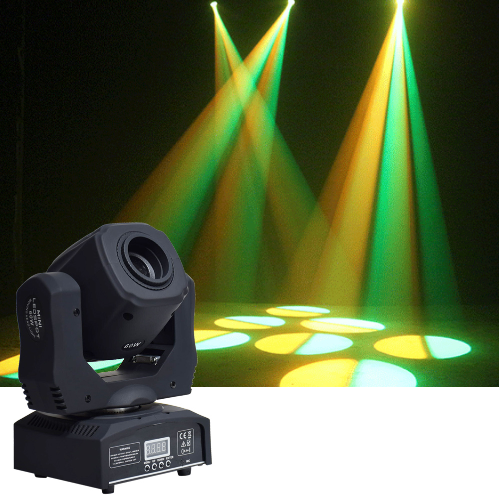 Image 2 - moving 60w LED Moving Head gobo Light led dmx 512 control dj diso moving head light(4 pieces/lot)Stage Lighting Effect   -