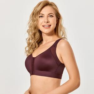 Image 3 - Delimira Womens Front Closure  Full Coverage Wire Free Back Support Bra