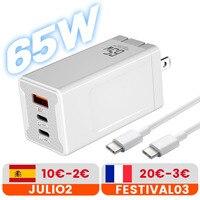 Caricatore rapido di tipo C del porto 5V 2A/4.5A del caricatore rapido di USB-C della carica di Transpeed 65W GaN per il computer portatile iPhone12 Pro Macbo massimo