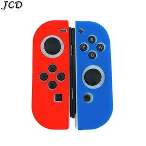 Image 4 - JCD 1 ensemble housse de coque peau en caoutchouc Silicone pour interrupteur Joy Con contrôleur pour Nintendo Switch NX NS poignée Joycon