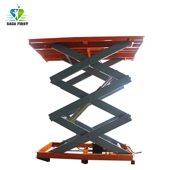 2m 1000kg Stable Stationary Scissor Lift Table Customize Acceptable