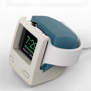 Image 5 - لساعة أبل 2345 جيل سيليكون ريترو شحن حامل Iwatch ساعة ذكية S6 قاعدة شحن الكمبيوتر الكلاسيكية العالمية