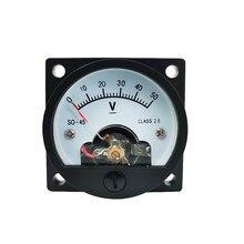 Panneau de mesure analogique en continu, 1 pièce, SO-45-V 5V 10V 15V 20V 30V 50V 100V 300V DC, voltmètre de tension cc 47x47MM