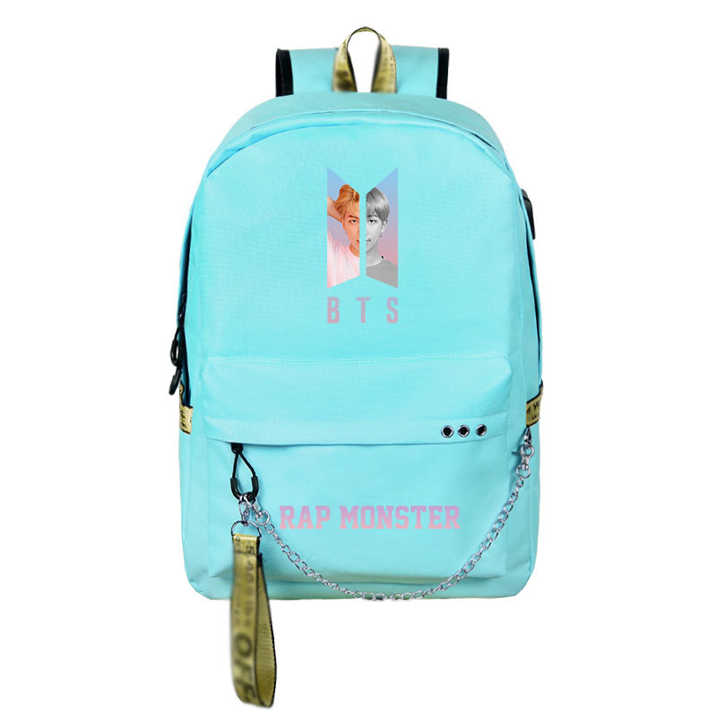 Canvas Cute Teenagers Girls Backpack Usb Charging Sport Travel Backpack Large Capacity Student Bag Mochila Feminina