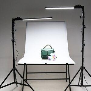 Image 5 - GSKAIWEN 2 แพ็ค Dimmable Bi สีการถ่ายภาพแสงสตูดิโอ LED ชุดขาตั้งกล้องสำหรับภาพผลิตภัณฑ์ยิง