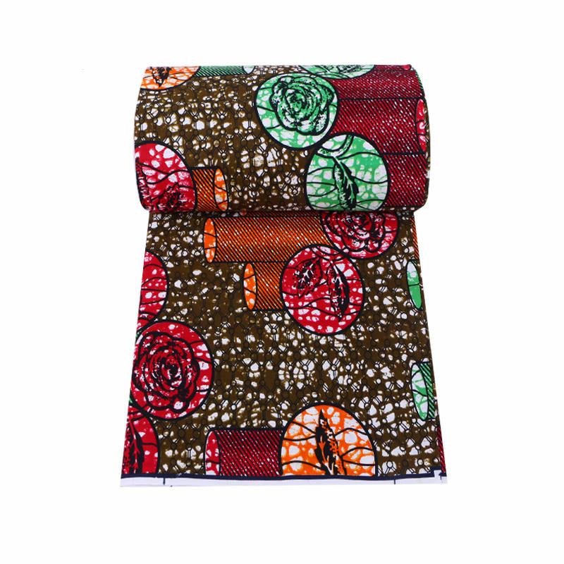 Hot Sale African Holland Wax Prints Fabric For Patchwork African Fabric 6 Yards 100% Cotton Fabric Ankara Wax