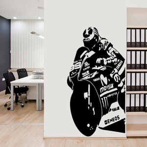 Motorcycle Wall Stickers Racing Vehicle Motocross Posters Vinyl Wall Decal Home Decor Mural Extreme Autocycle Racing Decals C361
