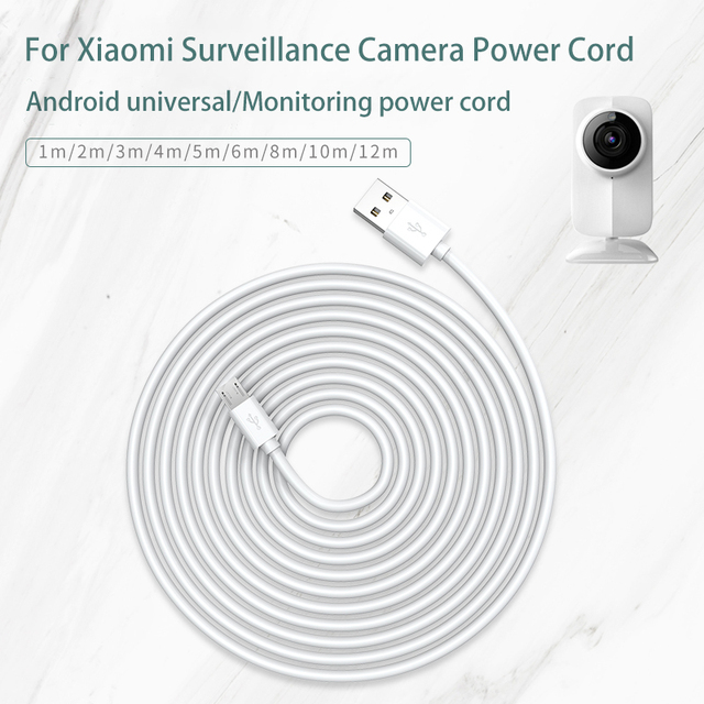 USB Data Cable for Xiaomi Security Surveillance Wifi Camera Power Charging Extension Cable Driving Recorder Usb Micro Cable