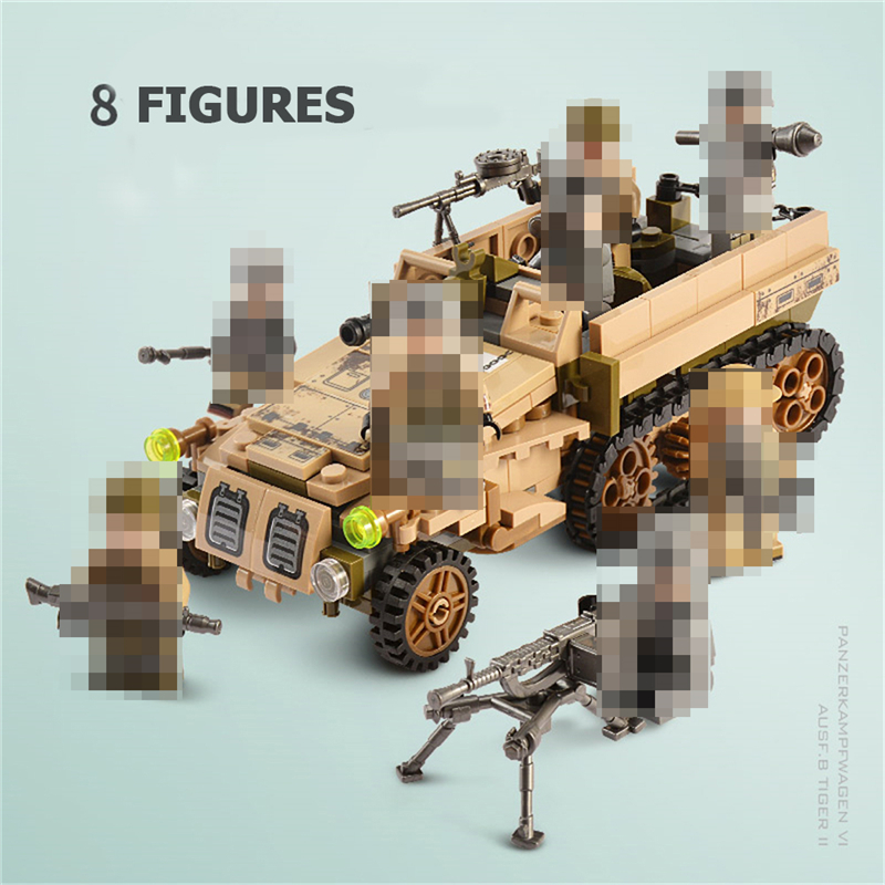 1061PCS Tank Building Blocks Toys Mini figures Vehicle Aircraft Boy Educational Block Military Compatible LegoINGlys Bricks (4)