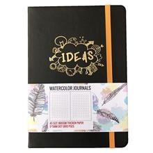 BUKE Dot siatka notatnik kropkowany akwarela dziennik Sketchbook zagęścić papier 180GSM 160GSM Dotted160 stron 5X5mm
