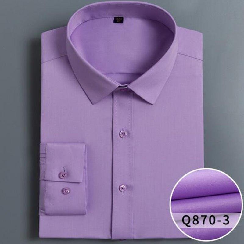 Printemps automne offre spéciale hommes chemises à manches longues Camisa, trois dimensions Anti-rides solide couleur bonbon décontracté Slim Fit tissu
