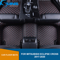 Car Floor Mats For Mitsubishi Eclipse Cross 2017 2018 2019 2020 Artificial Leather Rugs Dash Mats Custom Auto Foot Pads SUNZ