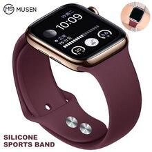 Мягкий силиконовый сменный спортивный ремешок для 38 мм Apple Watch Series1 2 3 4 5 42 мм ремешок для наручных браслетов для iWatch Sports Edition