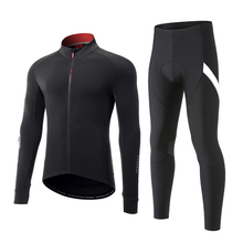 Suit Cycling-Sets Pants Thermal-Suits MTB Santic Sports Windproof Warm-Up Men Fleece
