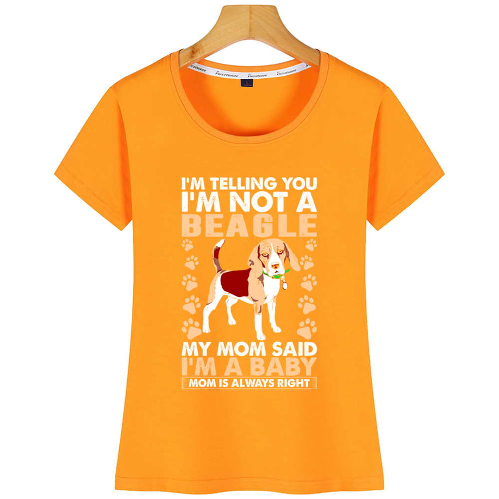 BEAGLE MOM LADIES Cotton T-Shirt
