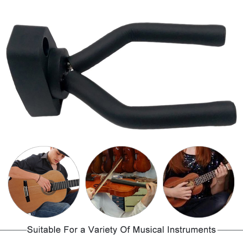 Aiersi Guitar Violin Hanger Stand Wall Mount Hook Holder Fit For Bass Ukulele Violin And Other String Instruments