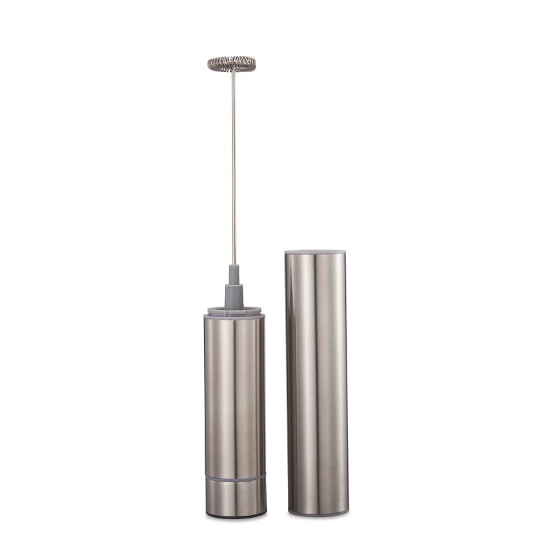 Portable Stainless Steel Play Milk Frother Handheld Electric Mixer Milk Egg Beater Fancy Coffee Stirrer With Cover