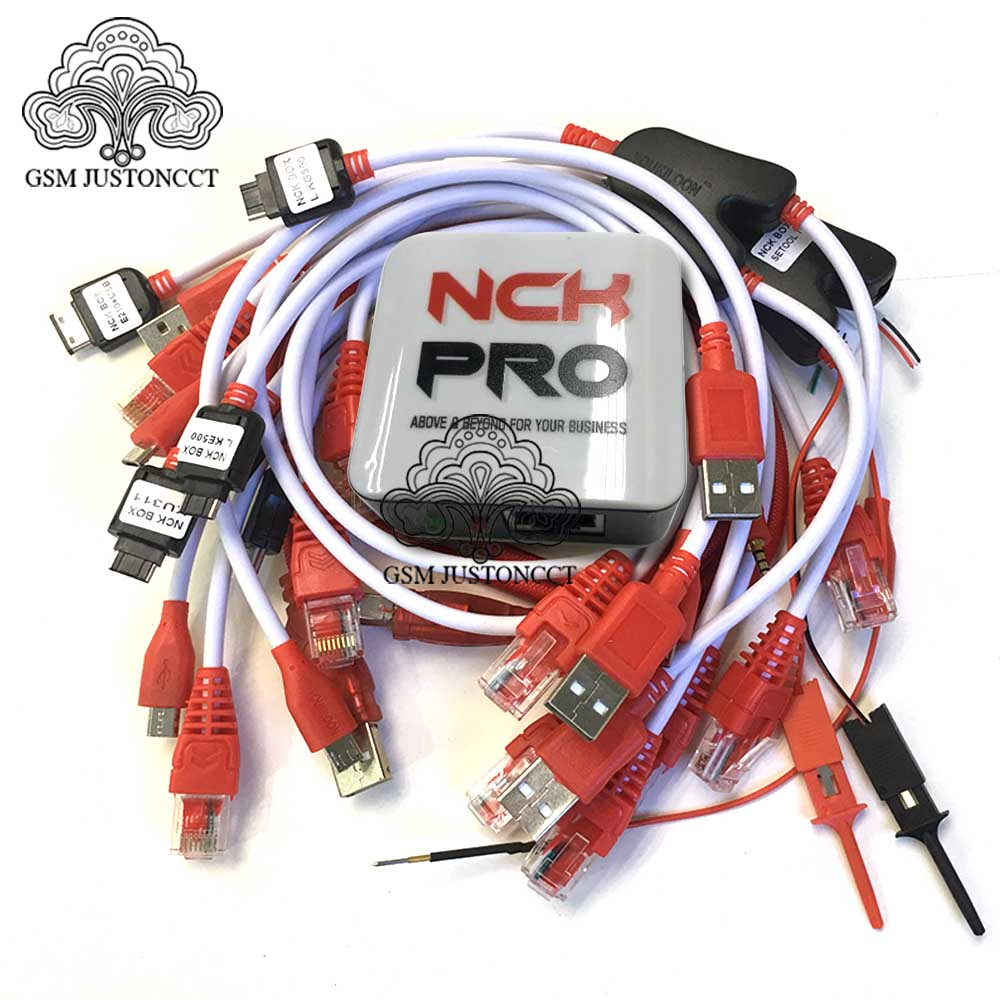 2020 Version 100% Original NCK Pro Box  NCK Pro2 Box  ( NCK Box+UMT Box 2 In1 )+15cables  Free Shipping