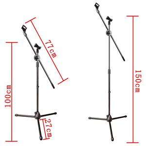 Image 3 - MS 017 Flessibile Microfono Fase Del Basamento Del Treppiedi Del Pavimento Del Basamento Del Microfono della Radio Microfono Stand