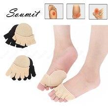 Beş parmak kaymaz ön ayak pedleri kadınlar için ayak ağrı kesici bakım görünmez kısa yarım palmiye sığ bağlantı noktası kaymaz burnu açık çorap
