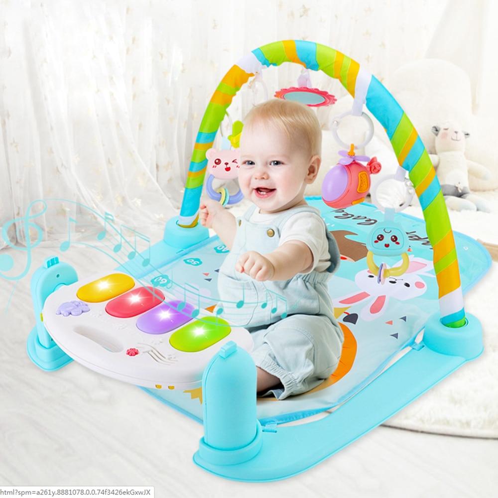Infantile bébé Piano tapis tapis activité musicale gymnastique Puzzle enfants jouets Infantile doux tapis de sol jeu rampant jouet éducatif cadeaux