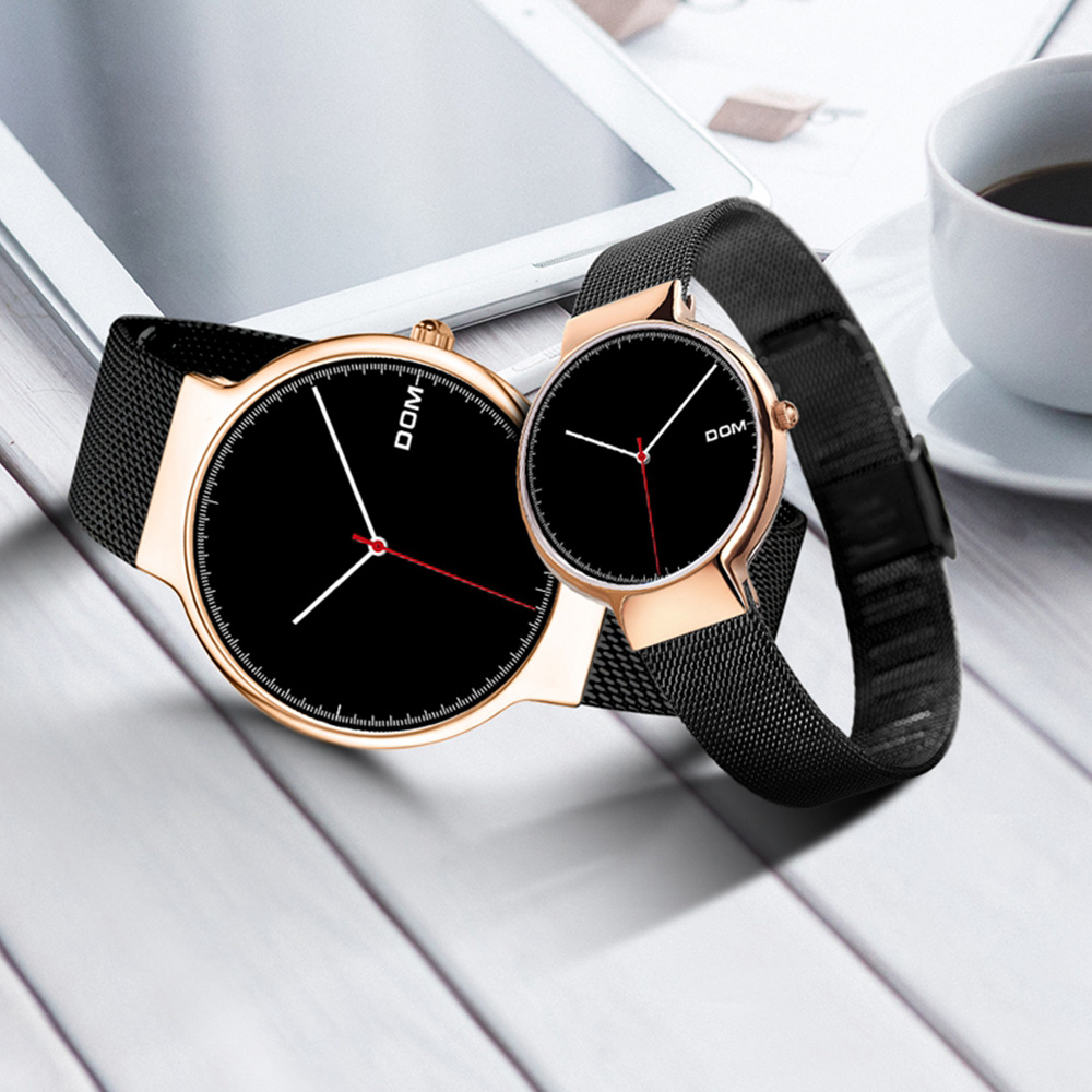 TEENRAM 2pcs Couple Watches Gift for Lovers Paired Watch Quartz Clock relogio masculin Men Women Wristwatch parejas Popular