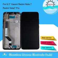 """M & sen original quadro lcd 6.3 """"para xiaomi redmi nota 7 redmi note7 pro display lcd + digitador da tela de toque com quadro"""