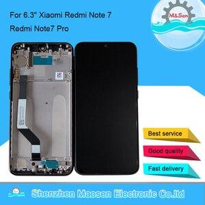 "Image 1 - Original M & Sen กรอบ LCD 6.3 ""สำหรับ Xiaomi Redmi หมายเหตุ 7 Redmi Note7 Pro หน้าจอ LCD + touch Screen Digitizer กรอบ"