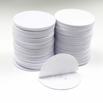 10pcs 125khz RFID EM4305 T5577  Rewritable Coin Card Adhesive Sticker Copy Clone Diameter 25mm - discount item  15% OFF Access Control