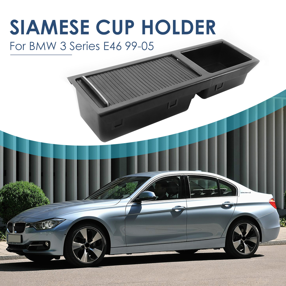 Центральная консоль, лоток с отсеком для хранения, с откидной крышкой для слепых роликов для BMW 3 серии E46 51167038323 Все для уборки      АлиЭкспресс