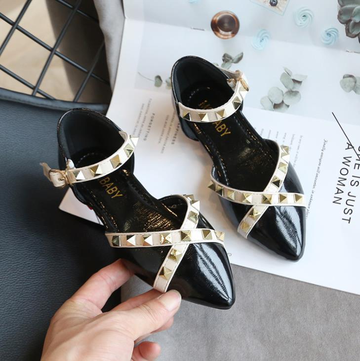 Girls Sandal Kids Gladiator Sandals Childrens Summer Rivets Boots Roman Shoes
