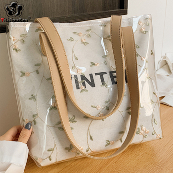 Fashion Summer Handbags Large Capacity Beach Bag Women High Quality Transparent Pvc Handbag Bohemian Shoulder for 2020