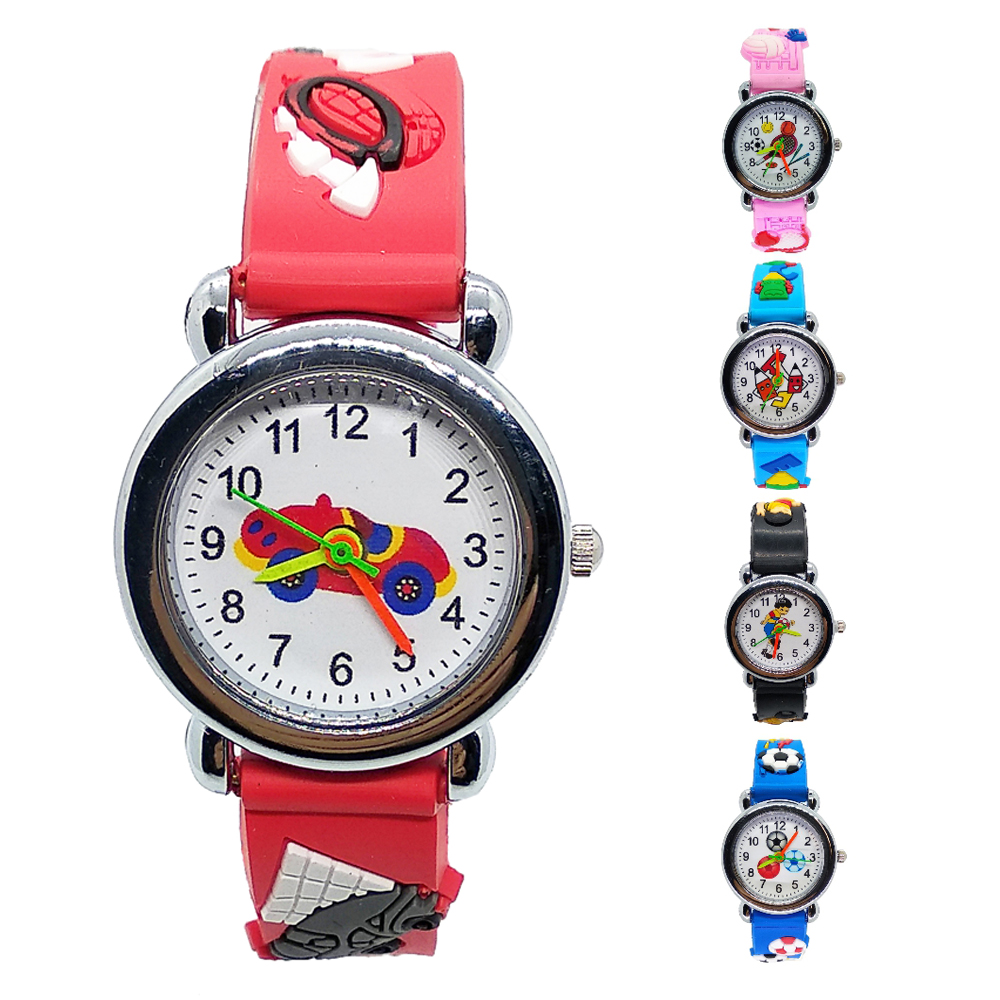Cartoon Car Story Silicone Kids Watches For Students Boys Girls Kid Clock 4 Styles Football Watch Children Sport Watch Baby Gift