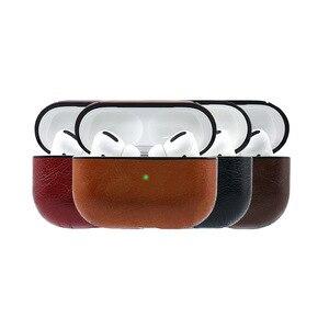 Image 1 - Étui en cuir daffaires pour AirPods Pro Bluetooth étui pour écouteurs sans fil pour Airpods 2 accessoires de couverture de casque boîte de charge