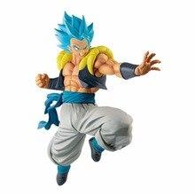 цена 21CM Anime Son Dragon Ball Z Goku & Vegeta Resurrection Fusion Ultimate Warrior Blue Hair Gogeta PVC Action Figure Model Toys в интернет-магазинах