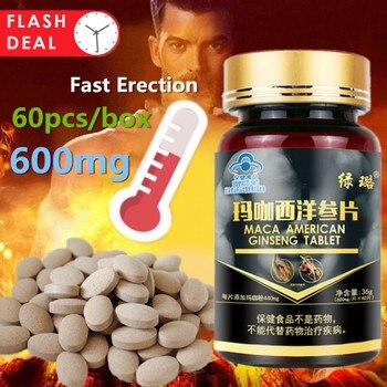 Comprimidos pastillas de Maca Man, suplementos para el aumento masculino, larga erción...
