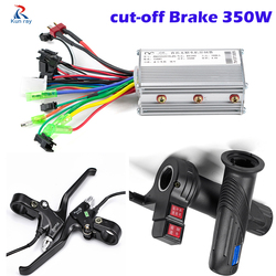 Sepeda Listrik Twist Throttle Genggaman, e-Sepeda Controller 24V 36V 48V 250W 350W Blcd Controller untuk Sepeda, cut Off Power Rem